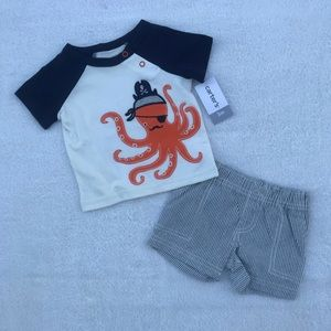 Carter's Octopus Outfit Size 3 Months NWT